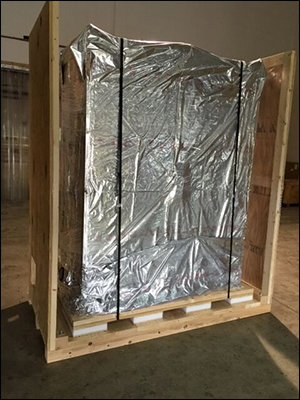 Foil Wrapped In Crate