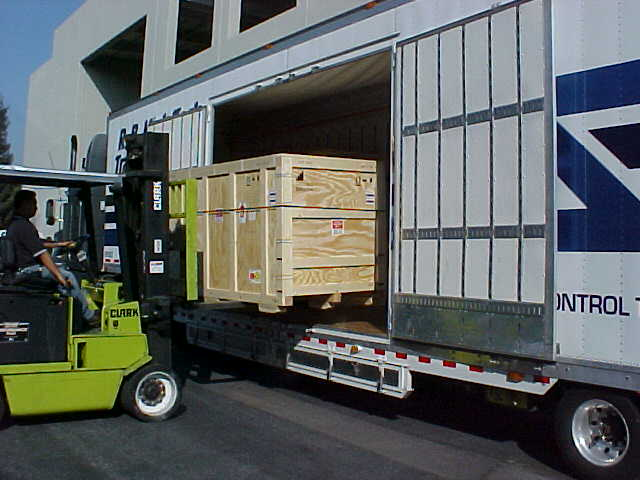 Forklift Loading Side-Door Truck