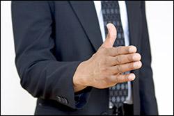 Hand Offering Shake 250