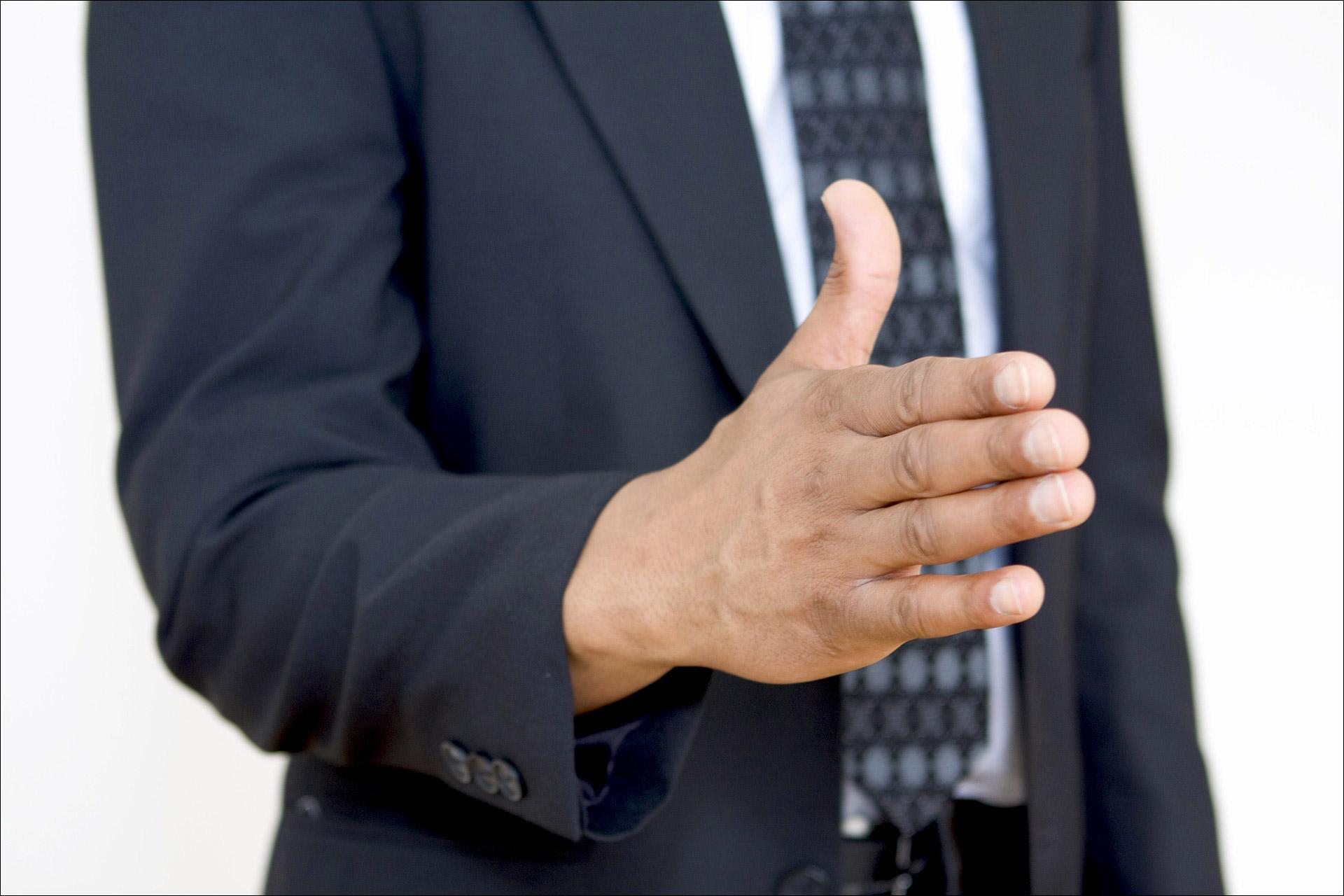 Hand Offering Shake Full Size