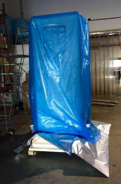 vapor bag preventing moisture from reaching equipment