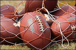 Footballs in Net 250